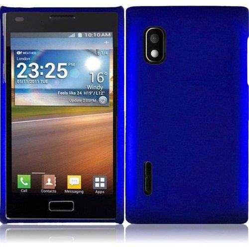 Cell Accessories For Less (Tm) For Lg Optimus Extreme 40G Rubberized Cover Case - Blue - By Thetargetbuys