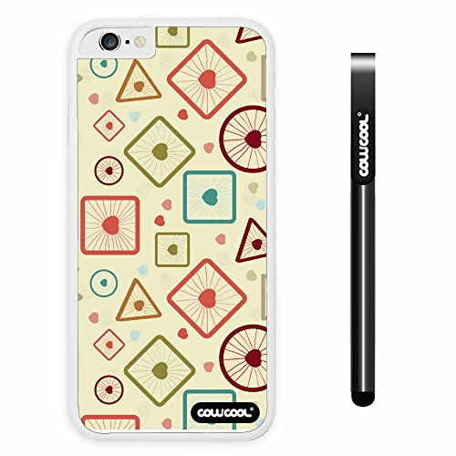 Cowcool® Apple Iphone 6 4.7 Inch Soft Silicone Complex Concentric Circle Triangle Single Layer Protective Case (Style2)