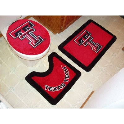 Texas Tech Red Raiders Bathroom Rug Set