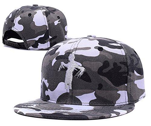 [Jeffrey Edward Scissorhands Symbol Embroidery Camo Cap Camouflage Snapback Hat] (Kim Edward Scissorhands Costume)