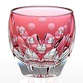 カガミクリスタル・江戸切子冷酒杯(桜・T535-2683-CAU/伝統工芸士・鍋谷聰)