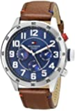 Tommy Hilfiger Men's 1791066 Stainless Steel Watch With Brown Synthetic Band