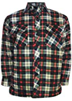 Mens Boys Flannel Lumberjack Brushed Cotton Casual Check Work Shirt Top, Sizes Upto 5XL