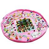 Port�til de almacenamiento Organizador de bolsas grande de kangaroobaby� Kids Alfombra de juegos juguetes Almacenamiento R�pido) azul rosa Talla:60 Inch
