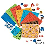 500 PAPER DOLL Foam SHAPES/Self Adhesive Stickers/MULTI-Ethnic/Craft/ACTIVITY/Imagination