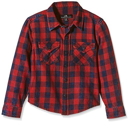 LTB Jeans Jungen Hemd MINI RYDER, Gr. 176 (Herstellergröße: 15-16 Jahre), Mehrfarbig (RED PLAID WASH 4354)