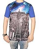 The Desi Attire Men's Digital Print Half Sleeve Sports Tshirt (Printed _ T Shirts _ Half Sleeves _ Round Neck)