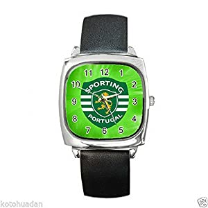 New Wrist Watches XKHD045 NEW* HOT SPORTING FC Square Metal Watch LeatherBan d