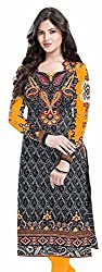 MD Women's Cotton Unstitched Kurtis Material(Multicolor_Free Size)