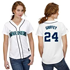 Ken Griffey Seattle Mariners Home Ladies Replica Jersey by Majestic by Majestic