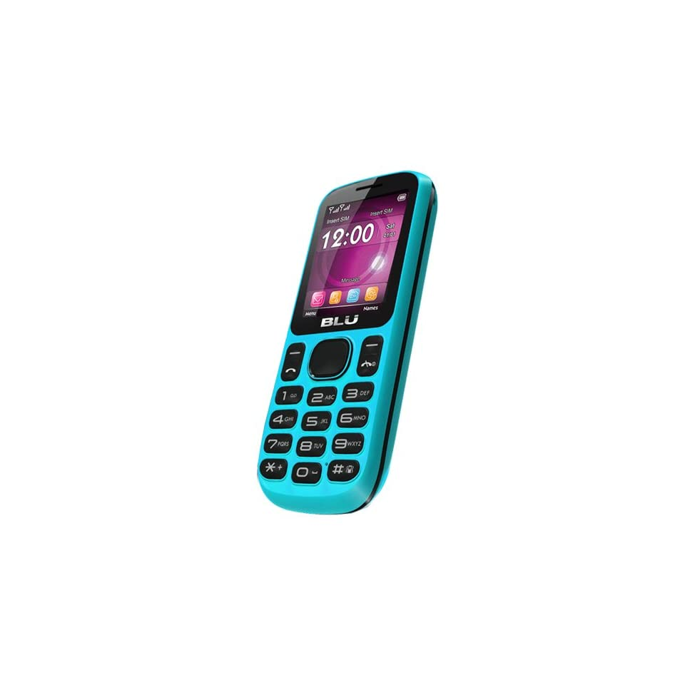 BLU T172 Jenny Unlocked Quad Band Dual SIM Phone with Camera, Bluetooth, microSD Card Slot and  Player   No Warranty   Blue