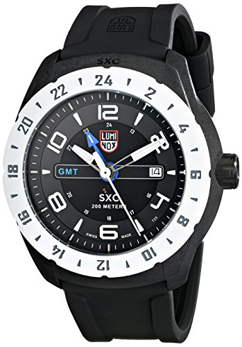 LUMINOX MEN'S 45MM BLACK RUBBER PLASTIC CASE MINERAL GLASS QUARTZ WATCH 5027