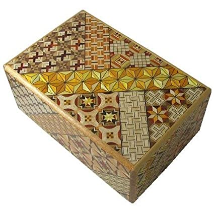 Koyosegi Japanese Puzzle Box, 5 Sun 10 Steps