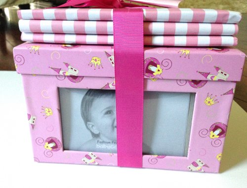 Keepsakes By Baby Gear 2 Pc Pink Frame Box and Album Set - 1