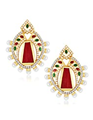 Sukkhi Glorious Gold Plated Australian Diamond Earrings