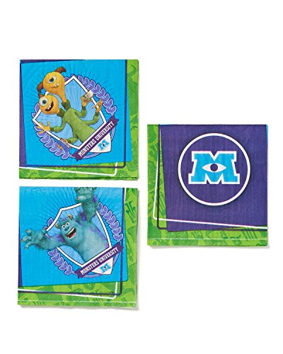 American Greetings Monsters University Lunch Napkins, 16 Count, Party Supplies Novelty