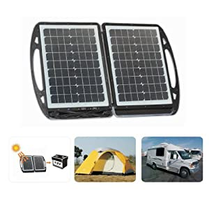 Topray Solar Solar powerd 35W Foldable Solar Battery Charger by Shenzhen Topray Solar Co., Ltd