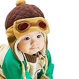 FEITONG® Cute New kids Infant Girls Boys Beanie Pilot Aviator Crochet Earflap Hats Winter Warm Cap Hat
