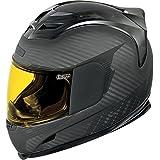 Icon Airframe Ghost Helmet (Carbon Fiber Black, Medium)