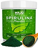 MAJU's Spirulina Powder (8oz): Purest California Grown, Non-GMO, Non-Irradiated, Pesticide and Herbicide Free, Vegan and Gluten Free Super Micro-Algae