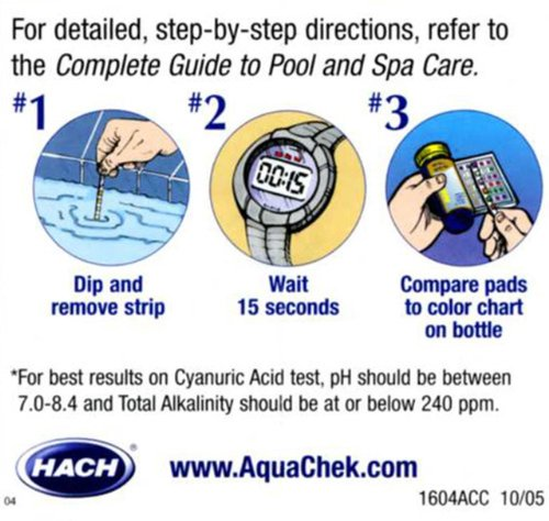 Aquachek 541604a Select Kit Test Strip For Swimming Pools Home Garden Spa