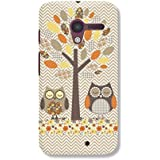 Motorola Moto X Back Cover With Brown Owl Family Print HOLA Online
