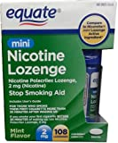 Equate Mini Nicotine Lozenge Mint 2mg 108ct, Compare to Nicorette Mini Lozenge