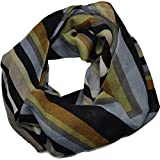 Echo Design Womens Malibu Stripes Wrap Scarf Black