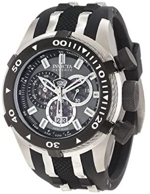 Invicta Men's 0976 Bolt II Reserve Chronograph Gunmetal Grey Dial Watch