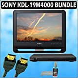 Sony Bravia M-Series KDL-19M4000 19-Inch 720p LCD HDTV (Black) + Sony DVD Player w/ Accessory Kit