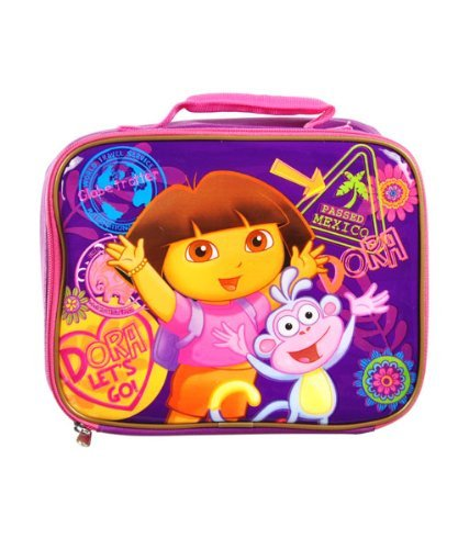 Nick Jr Dora Lunch Bag - square shape Dora lunch tote