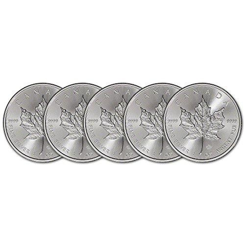 CA 2015 Canada Silver Maple Leaf 5-pc. (1 oz) BU