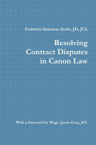 Resolving Contract Disputes in Canon Law PDF