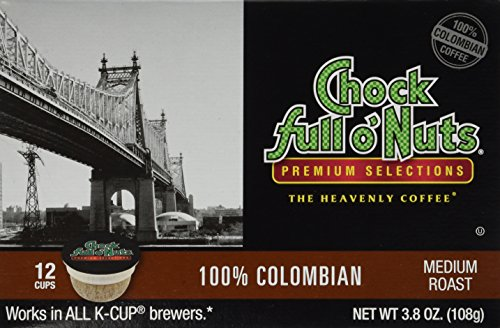 Chock Full O'Nuts 100% Colombian Coffee 12 CT K-Cups - Pack Of 2 (Chock Full O Nuts Coffee Cup compare prices)