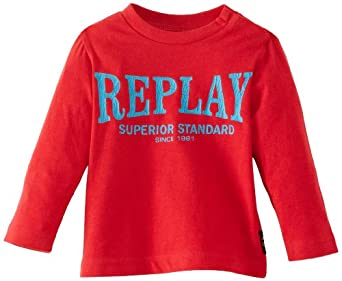 Replay PB7015.054 Baby Boy's T-Shirt Red 12 Months