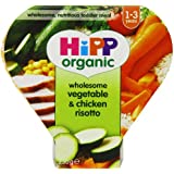 Hipp Organic Wholesome Vegetable and Chicken Risotto Tray Meal from 12 Months 230 g (Pack of 5)