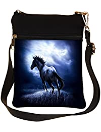 Snoogg Horse Running Cross Body Tote Bag / Shoulder Sling Carry Bag