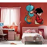 Creative Width Cute Dolls Wall Decal - (30x30 Inch, Multicolour )