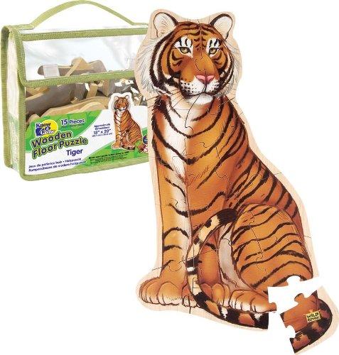 Imagen principal de Wild Republic 84778 - Puzzle de suelo de madera dibujo de tigre [Importado de Alemania]