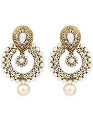 Bling N Beads Antique Golden Dangling Jhumkis