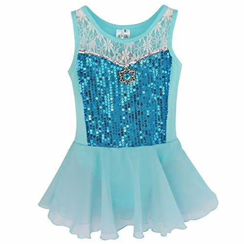 Girls Queen Elsa Ballet Leotard Dance Dress Gymnastic Dancewear Costume - Frozen