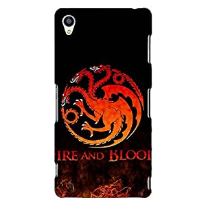 Jugaaduu Game Of Thrones GOT House Targaryen Back Cover Case For Sony Xperia Z3