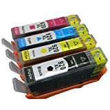 4 Ink Cartridges 1 full set of Compatible HP920xl for HP OfficeJet 6000 6500 7000 Wireless CHIPPED (Shows Ink Levels) by BVH Direct