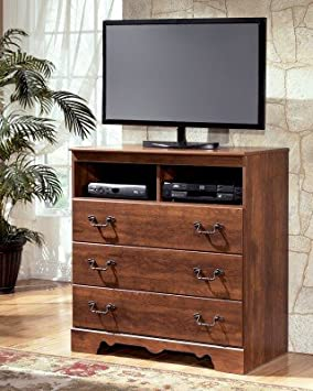 Rustic Style Brown Media Chest Bedroom Furniture