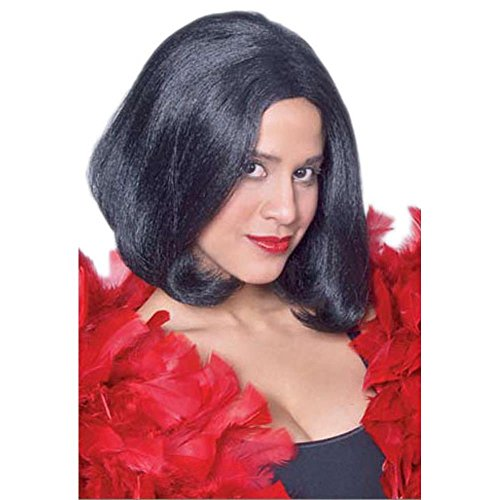 Adult Black 1920's Seductress Costume Wig