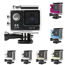 CROCON Action camera Ultra HD 4K WiFi 1080P/60fps 2.0 LCD 170D lens Helmet Cam go waterproof camera pro style
