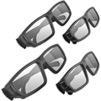 Ematic 3D Glasses Family Pack with 2 Adult Glasses and 2 Child Glasses from Ematic