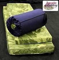 "Large 3"" Thick Orthopedic Memory Foam Camping Pad 3MFOCMP Roll-n-Go 22""x72"""