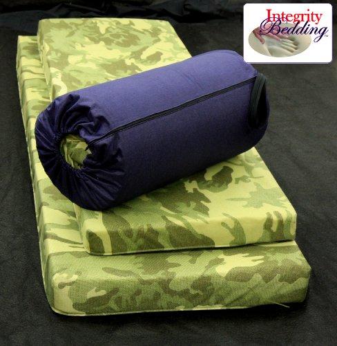 "Extra Large 4"" Thick Orthopedic Memory Foam Camping Pad - 4Mfocmp Roll-N-Go 26""X78"""