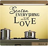 Season Everything with Love Wall Decal Sticker Art Mural Home Décor Quote
